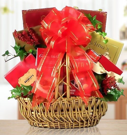 Godiva & Chocolate Treats Romantic Gift Basket