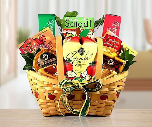 Cheese & Apple Gourmet Gift Basket