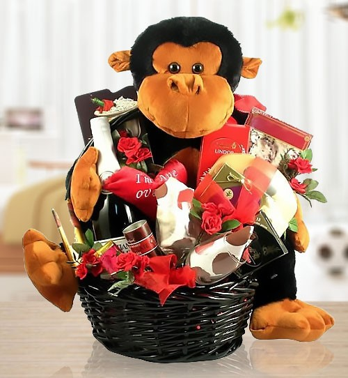Crazy in Love Romantic Gift Basket of Sweets