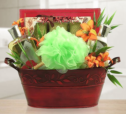 Into the Wilderness Exotic Spa Gift Basket