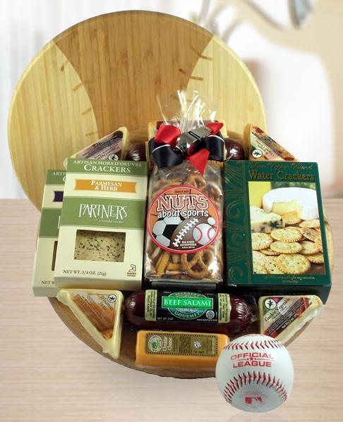 Deluxe Baseball Gift Basket of Treats