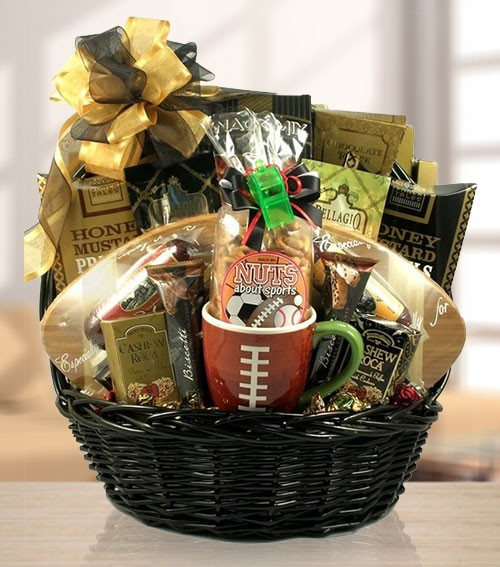 Nuts About Football VIP Gift Basket of Treats