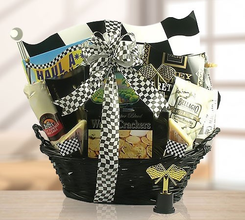 Racing Cars Gift Basket of Delicacies