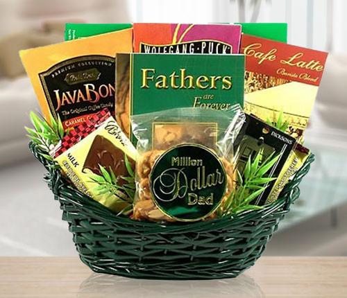 A Million Dollar Dad's Coffee & Gourmet Gift Basket