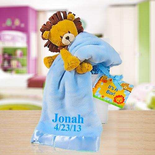 Little Lion Gift Box-Blue