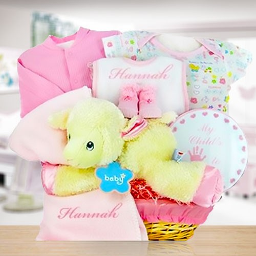 Lamby Nap Time Gift Basket-Girl