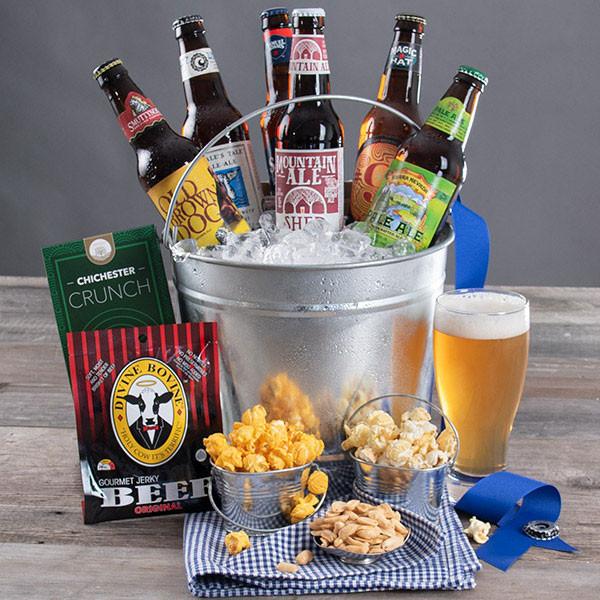 Extra-Beer & Gourmet Snacks Gift Bucket