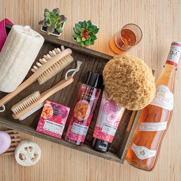 Citrus Delights Spa Gift Basket for Ladies