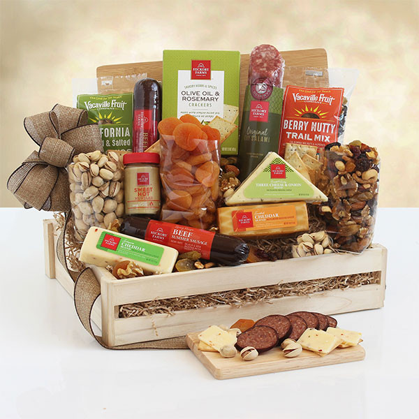 Meat, Cheese & Nuts Gourmet Gift Crate