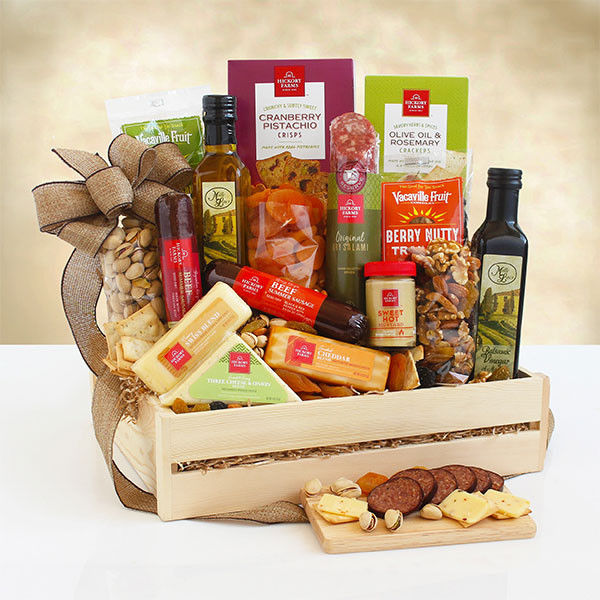 Exclusive Meat, Cheese & Nuts Gourmet Gift Crate