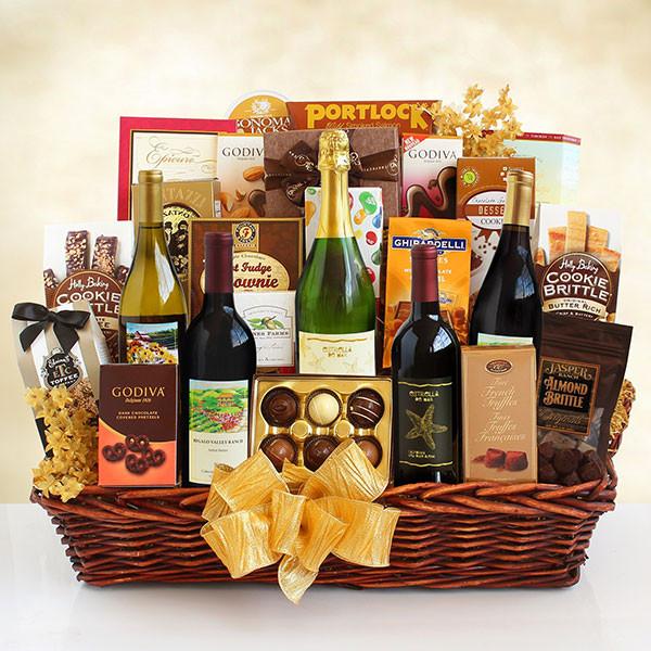 Enormous Wine Gourmet Splendor Gift Basket