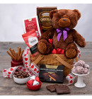 Be My Valentine Truffles and Cookies Gift Basket