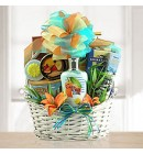 Seaside Spa & Sweet Mix Gift Basket