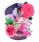 Butterflies, Flowers & Gourmet Gift Basket for Her