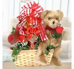 Bear, Cookies & More for a Romantic Night Gift Basket