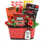 Sweet Greetings Valentine Romantic Gift Basket