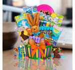 Ultimate Easter Gift Basket of Chocolate Treats and Bunny