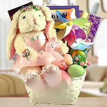 Books and Bunny for Your Little Girl Gift Basket