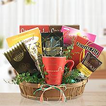 Coffee, Books & Desserts Gift Basket