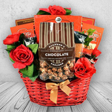 Deluxe Chocolate Romantic Gift Basket