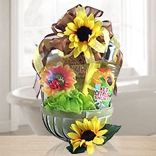 Relax & Enjoy Citrus Sunflower Spa Gift Basket