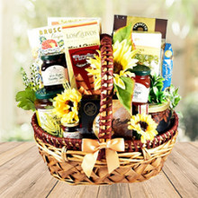 Rustic Cheese & Sweets Gift Basket for Breakfast
