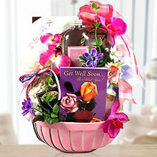 Get Well Spa and Gourmet Gift Basket for Her