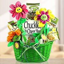 Cheer Up! Gift Basket with Tasty Gourmet Treats