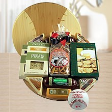 Deluxe Baseball Gift Basket of Treats