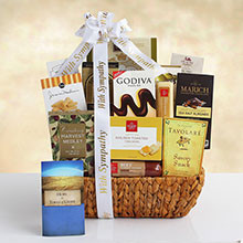 Our Sincerest Condolences Sympathy Gift Basket