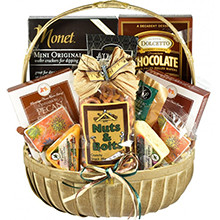 Cheese, Cookies, More Goodies Gift Basket for a Handyman