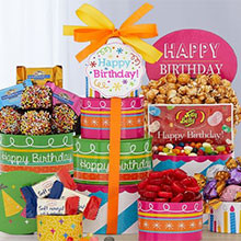 Ghiradelli Birthday Gift Tower of Sweet Treats
