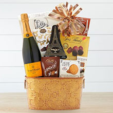 Veuve Cliquot Champagne, Chocolate & Gourmet Gift Basket