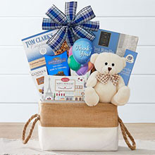 Thank You Wishes Bear and Gift Basket