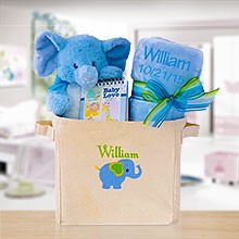 Welcome to the World Baby Boy Gift Tote