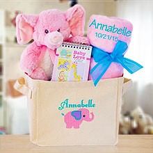 Welcome to the World Baby Girl Gift Tote