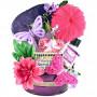 Butterflies, Flowers & Gourmet Gift Basket for Her