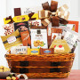 Cheese Gourmet Gift Basket of Rustic Delights